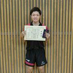 男子シングルス3位:浅沼(新潟大学)