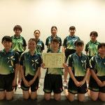 女子団体A3位:神戸大学