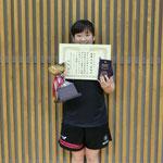 女子シングルス優勝:永目(新潟大学)