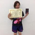 女子シングルス3位 江口選手(高知工科大学)