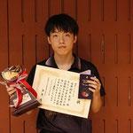 男子シングルス優勝:岡本選手(高知工科大学)