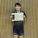 男子シングルス3位:岡本(高知工科大学)