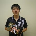 男子シングルス優勝 岡本選手(高知工科大学)