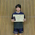 男子シングルス準優勝:竹中(高知工科大学)
