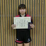 女子シングルス準優勝:田巻(新潟大学)