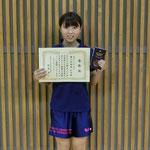 女子シングルス3位:福島彩(高知工科大学)