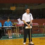 長内国公立大学卓球連盟理事長挨拶