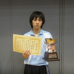 男子シングルス優勝 田淵選手(東京大学)