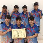 女子団体3位 広島大学