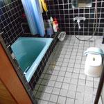 本格的タイル張り浴室です。