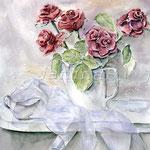 rote Rosen (7)  / Watercolour 30x40cm / insp. Mara Sapego