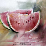 Watermelon I 2018 (25) / 30x40cm / Watercolour by ©janinaB.