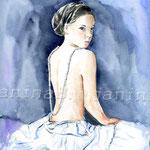 das Mädchen mit der Perlenkette (16)  / Watercolour 24x32cm