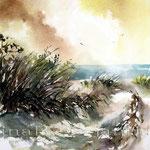 Der Weg zum Strand (O3) / Watercolour 21x31cm