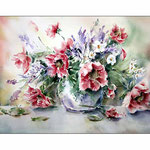Blumen in der Vase (20) / Watercolour 30x40cm