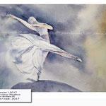 Dancer I 2017 (O3) / Watercolour 20x30cm on Arches CP © janinaB. 2017