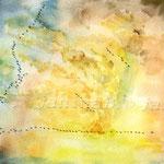 der Zug der Kraniche (O2) / Watercolour 18x25cm