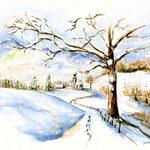 Winter (O2) / Watercolour 17x24cm ©janinaB.