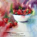 Strawberries I 2018 (21) / 30x40cm Watercolour by ©janinaB.