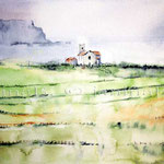 Kirche in Nordirland (24) / Watercolour 30x40cm