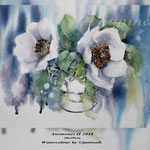 Anemones II 2018 / 30x40cm Watercolour by ©janinaB.
