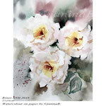 Roses XVII 2018 / 27x34cm / (22) / Watercolour by ©janinaB.