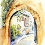 Landscape III 2008 (O6) / Watercolour 17x22cm ©janinaB.