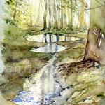 nach dem Regen (6) / insp. G. Wrobel / Watercolour 24x32cm