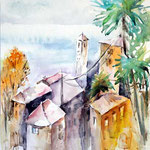 Landscape III 2016 (6) / Watercolour 34,5x32cm Hahnemuehle T © janinaB. 2016