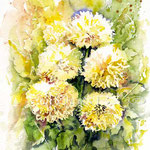 Flowers XII 2010 (O2) / Watercolour 17x24cm  © janinaB.