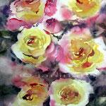 Rosen VII (5)/ Aquarell 30x30cm  © janinaB.
