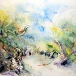 Olivenhain (11) / Watercolour 30x40cm