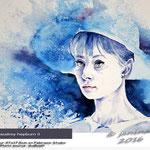 Audrey Hepburn II (O5)/ Watercolour 27x17,5cm on Fabriano Studio  © janinaB. 2016