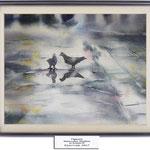 pigeons (O2) / Watercolour 20x30cm