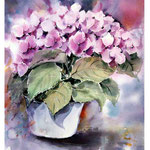 Hydrangea VIII 2017 (10) / Watercolour 30x40cm on Arches CP © janinaB. 2017