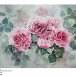 Rosen XXII (T3) / Aquarell 30,5x45,5cm auf Fabriano © janinaB.