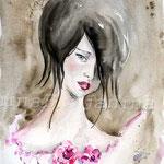 das Rosenmädchen (O1) / Watercolour 18x25cm