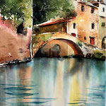 Italian village I / Watercolour 30x40cm on Arches CP © janinaB. 2016