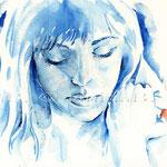 I'm so blue (O6) / Watercolour 17x24cm