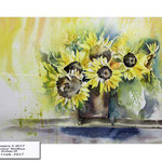 Sunflowers II 2017 / Watercolour 30x40cm on Arches CP © janinaB. 2017