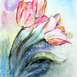 Tulpen I 2009 (O1) / Watercolour 18x25cm  © janinaB.