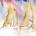 Sailing (O6) / Watercolour 18x25cm  ©janinaB.
