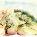 Landscape IV 2008 (O6) / Watercolour 17x24cm ©janinaB.