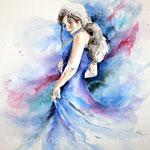 die Tanzende (T1) / Watercolour 36x48cm