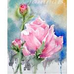 Flowers I 2018 (14) / 30x40cm Watercolour by ©janinaB.