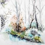 Landscape VIII 2009 (O1) / Watercolour 17x24cm  ©janinaB.