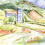 Weg in die Weinberge (19) / Watercolour 30x40cm  ©janinaB.