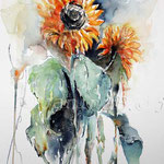 Sunflower III 2009 (8) / Watercolour 30x40cm  © janinaB.