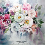 Flowers VI 2018 / 55x75cm (M1) / Watercolour by ©janinaB.
