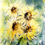 Sunflowers IV 2011 (O1) / Watercolour 18x25cm